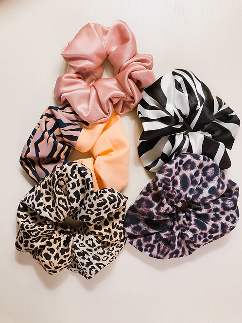 Set of 5 hair scrunchies