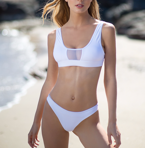 Workout bikini - white