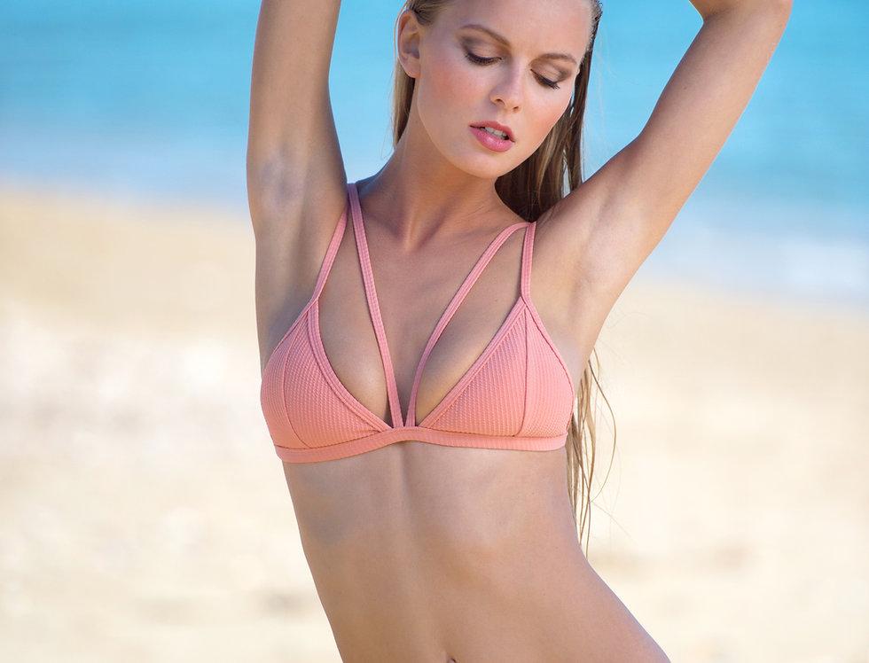 The Vertigo rib bikini - salmon pink