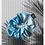 Thumbnail: Hair Scrunchie   Rib Tie dye   Light blue