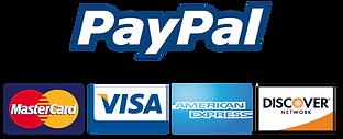 paypal, mc, visa, amex, discover