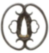 蕨手透図鐔 無銘 古正阿弥