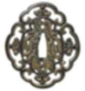 南蛮模様図鐔 無銘 南蛮