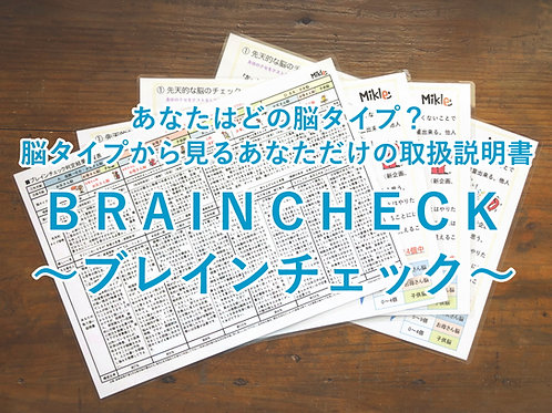 あなたはどの脳タイプ?「BRAINCHECK~ブレインチェック~」A4ラミネートシート4枚セット