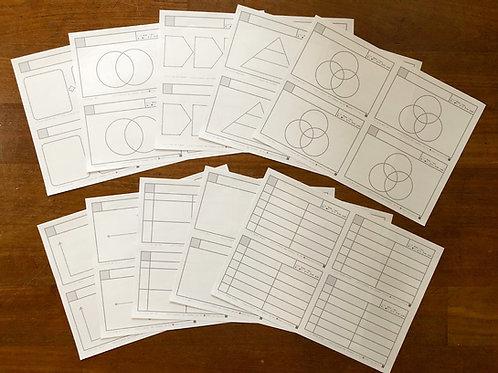 【PDFダウンロード版】練習用図解カード10種類