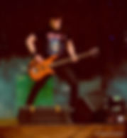Bass Guitarist on Stage