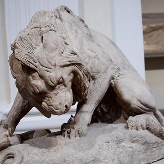 """""""Le lion au serpent"""" A-L. Barye"""