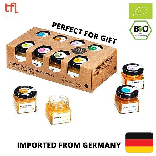 Honey Gift Set - Walter Lang In Eight Glasses around the World Honey - 8 x 40g