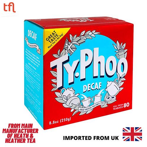 Typhoo Decaf (Caffeine Free) British Blend Round Tea Bags - UK ( 80's )