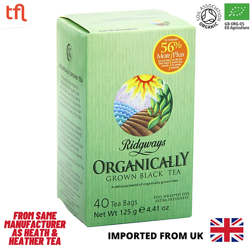 Ridgways Organically Grown Black Tea, 40 sachets