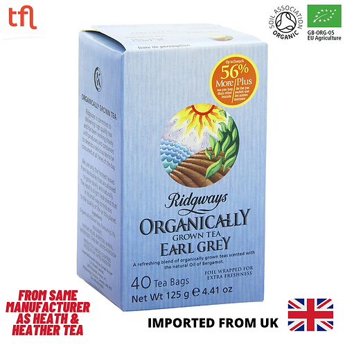 Ridgways Organically Grown Tea Earl Grey, 40 sachets