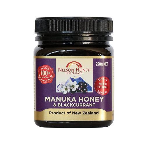 Manuka Honey & Blackcurrant 250g MGO 100+