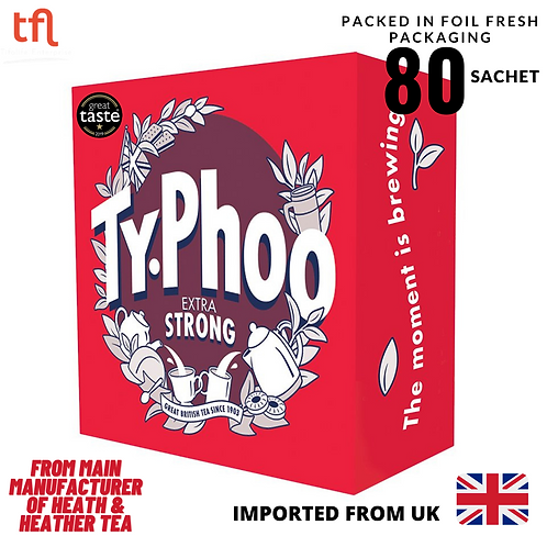 Typhoo Extra Strong British Blend Round Tea Bags - UK ( 80's )