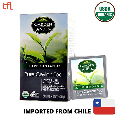 Garden of The Andes Organic Pure Ceylon Tea (20bags)