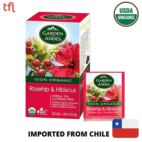 Garden of The Andes Organic Rosehip & Hibiscus Tea (20bags)