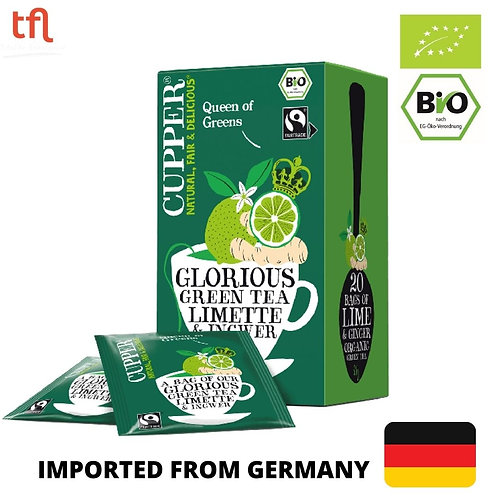 Cupper Organic Lime and Ginger Green Tea 35g (20 tea bags)