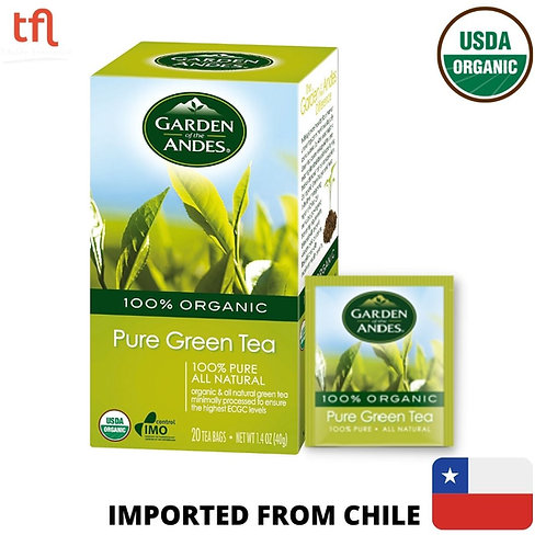 Garden of The Andes Organic Pure Green Tea (20bags)