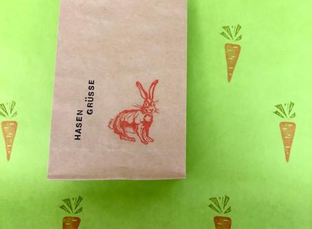 Hasengrüsse und Frühlingspapiere