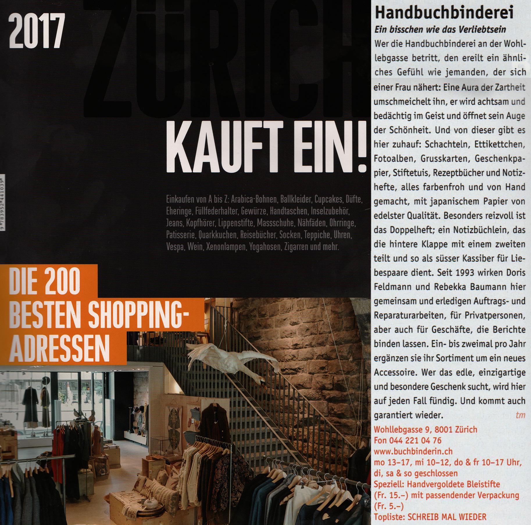 Zürich Kauft Ein 2017