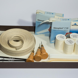 Buchbinderei-Materialien