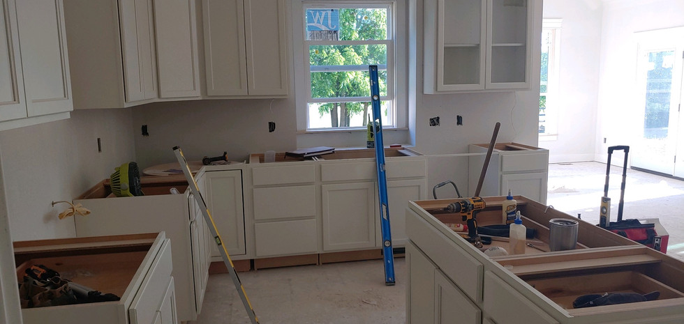 Freshly installed cabinets!