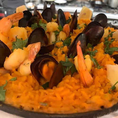 Seafood Paella - Family Meal