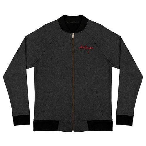 Antigua Unisex Black Bomber Jacket