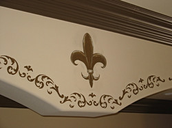 Fleur de lis and scroll border