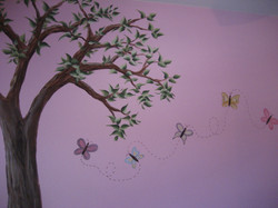 Tree with butterflies