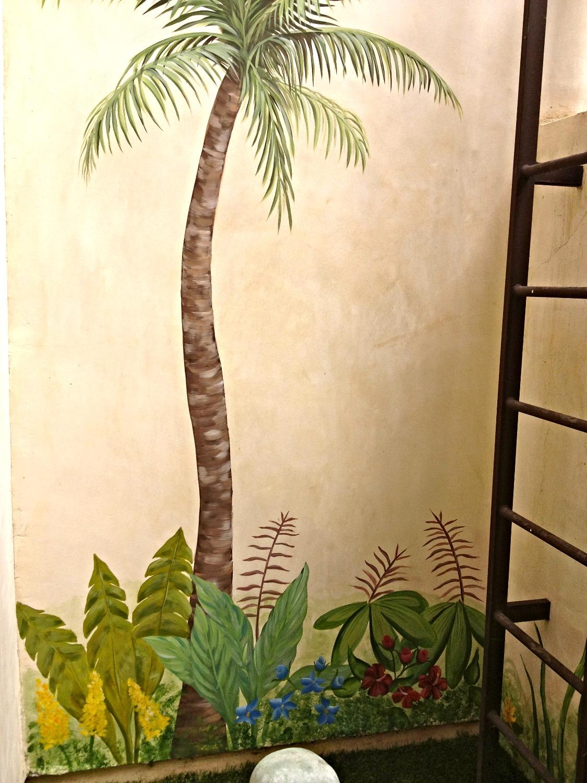 Palm tree and foliage