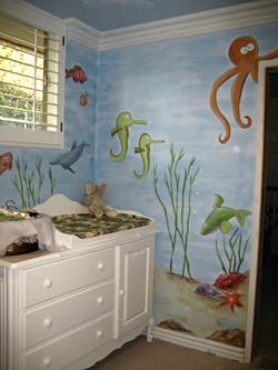 Underwater ocean mural