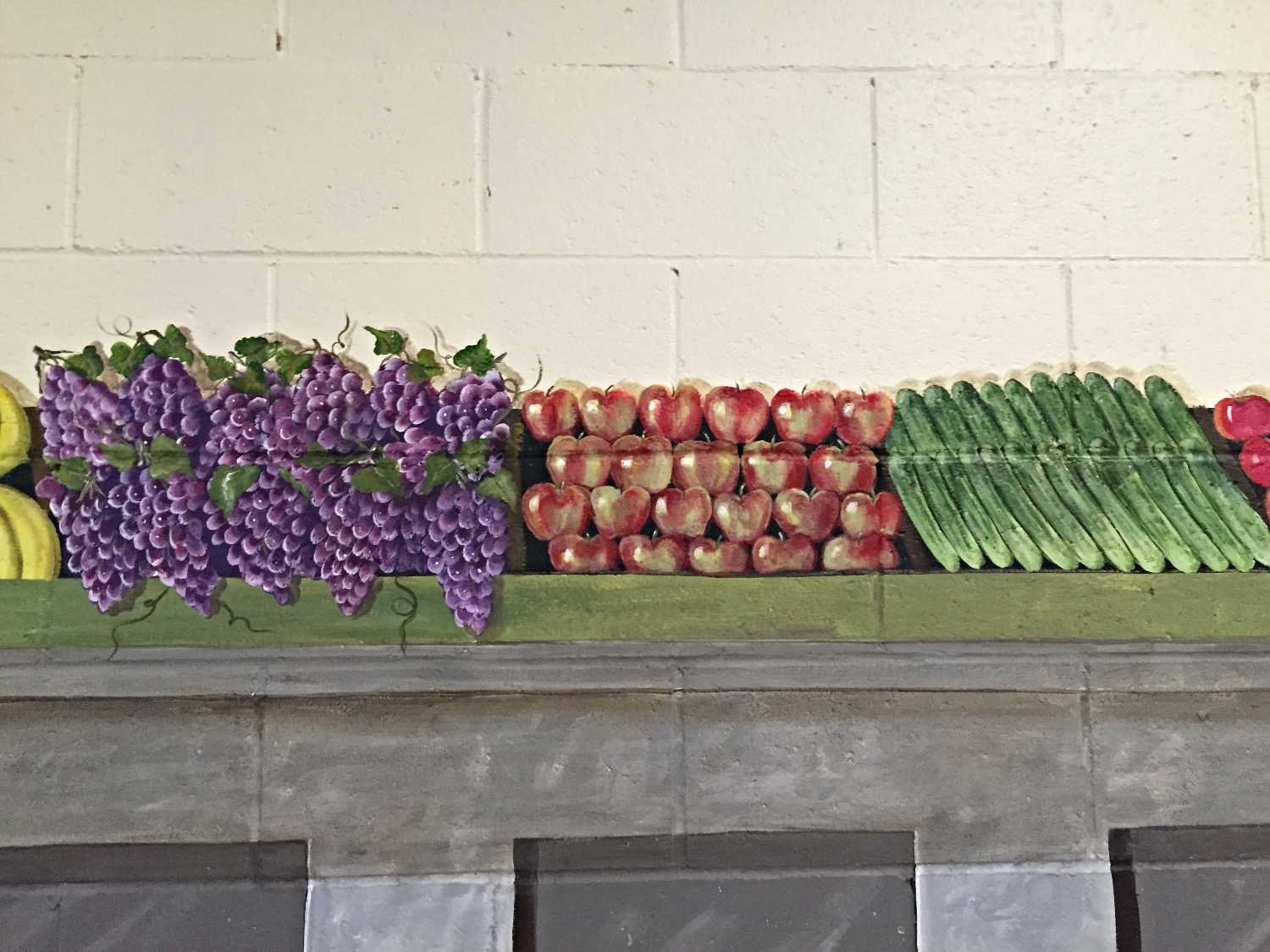 Close up of produce stand