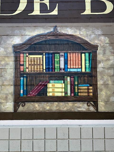 Outdoor Bookstore Mural