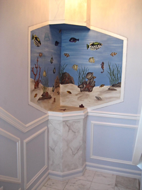 Aquarium & Faux marble