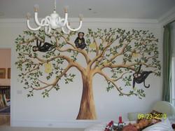 Monkey's in large tree