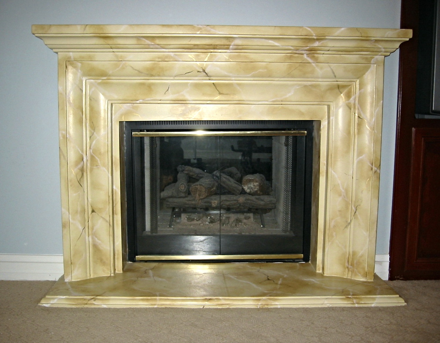 Marble painted fireplace