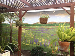 Outdoor field of flowers mural