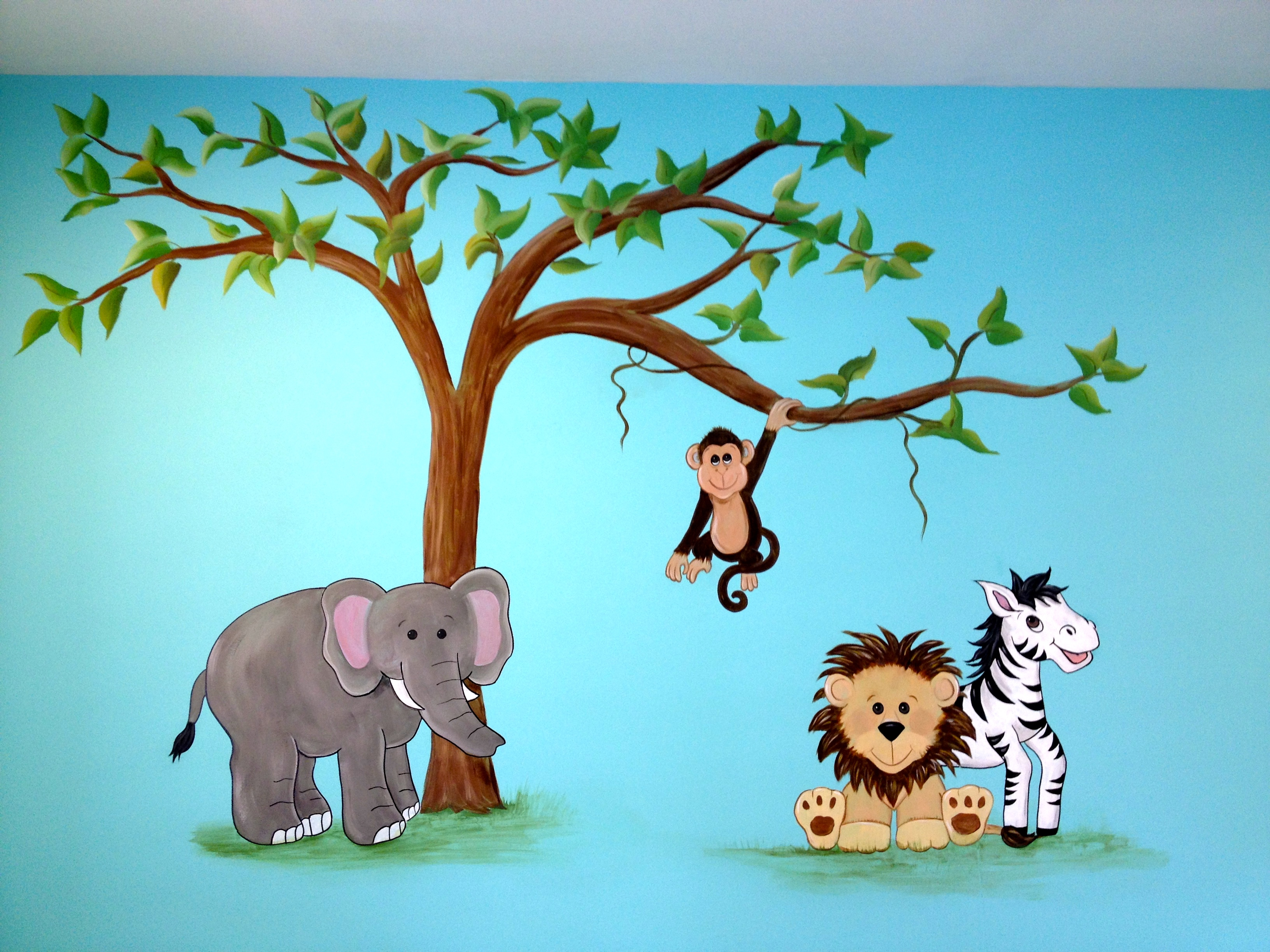 Simple jungle mural