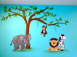 Simple jungle mural