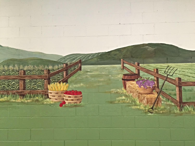 Closeup of Harvest mural