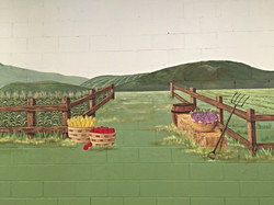 Closeup of Harvest mural