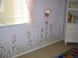 Floral garden mural