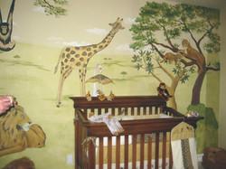 Savannah jungle mural