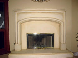 Lightly antiqued fireplace