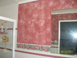 Two color faux in bathroom