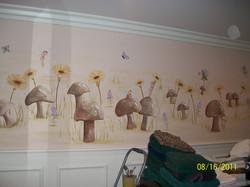 Mushroom field with fairies