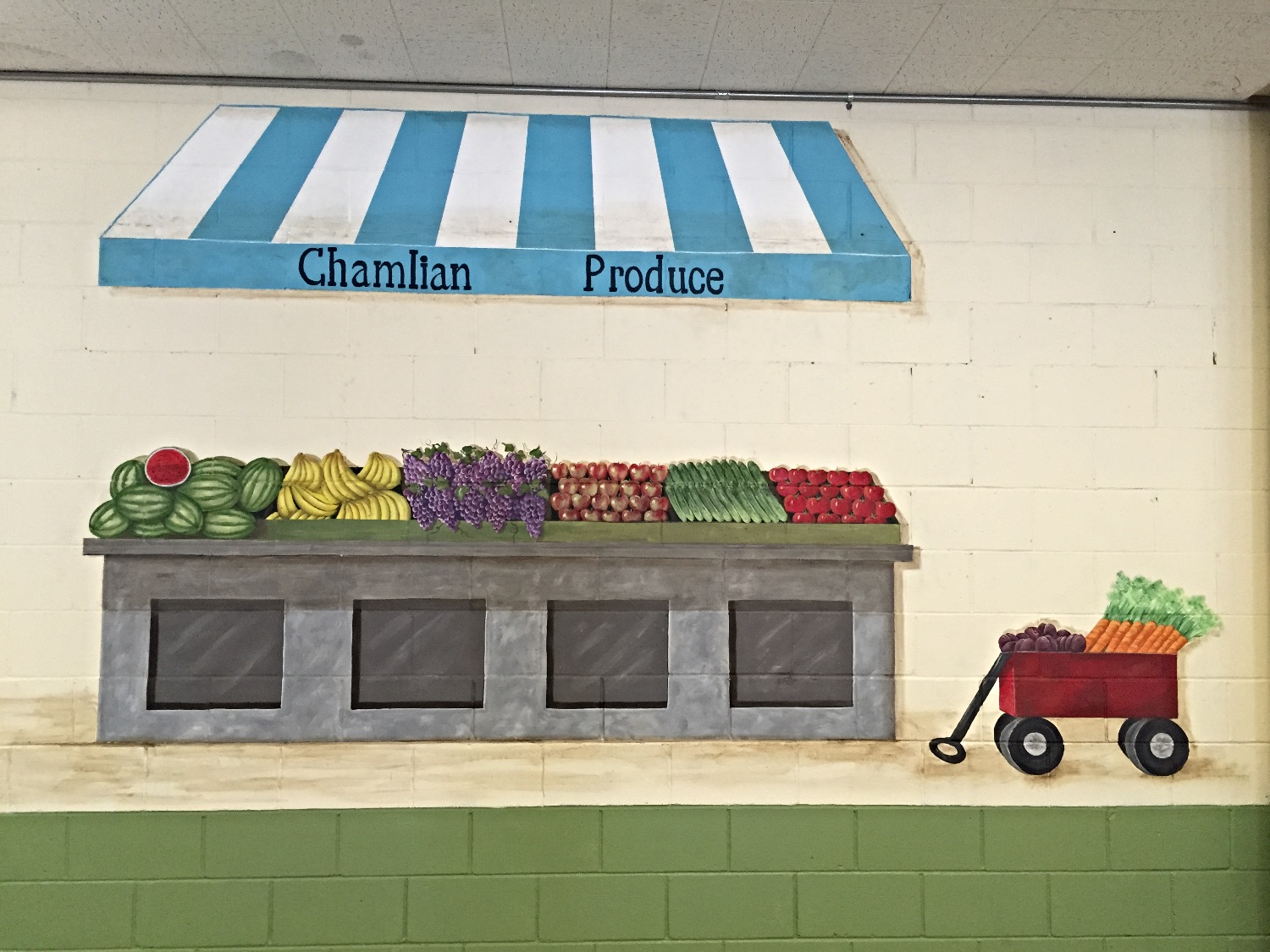Produce Stand and wagon