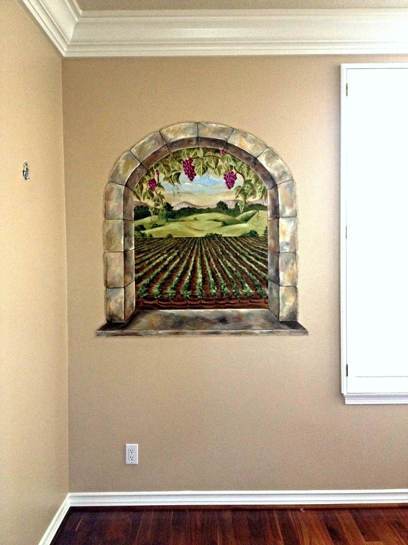 Vineyard faux window