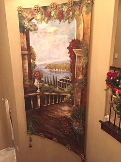 Canvas hanging mural