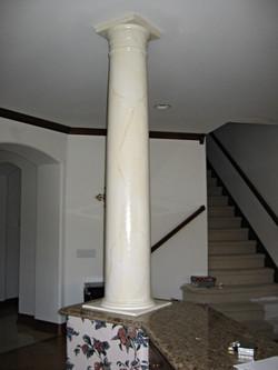 Simple marble finish on column